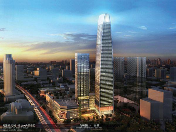 天津市区第一高楼—现代城